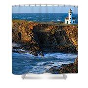 Cape Arago Lighthouse Shower Curtain