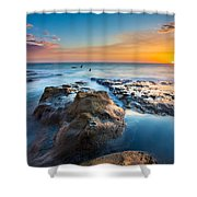 Cape Arago Orcas Shower Curtain