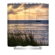 Cape Cod Bay Square Shower Curtain