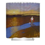 Cape Cod Clamming Shower Curtain