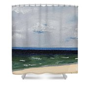 Cape Cod White Caps At Chapoquoit Beach Shower Curtain