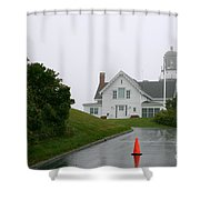 Cape Elizabeth On A Rainy Day- Maine Shower Curtain