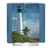 Cape Florida Lighthouse 2 Shower Curtain
