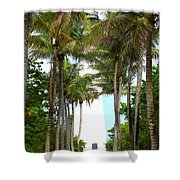Cape Florida Walkway Shower Curtain