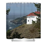 Cape Foulweather Lookout Shower Curtain