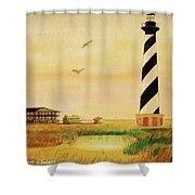 Cape Hatteras Light At Sunset Shower Curtain
