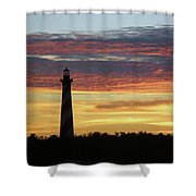 Cape Hatteras Lighthouse At Sunset Shower Curtain