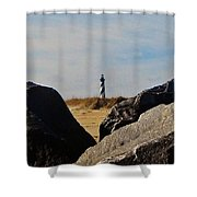 Cape Hatteras Lighthouse Rocks 2 11/22 Shower Curtain
