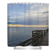 Cape Kennedy At Sunset Shower Curtain