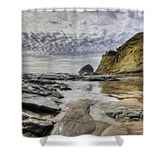 Cape Kiwanda And Haystack Rock Shower Curtain