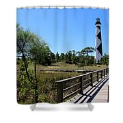 Cape Lookout Walk Way Shower Curtain