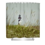 Cape Lookout Lighthouse - Vintage Shower Curtain