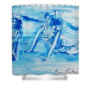 Cape May Bathing Beauty Shower Curtain