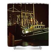 Cape May Fishing Fleet Shower Curtain