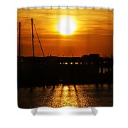 Cape May Harbor At Sunrise Shower Curtain