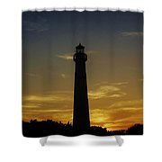 Cape May Lighthouse At Sunset Shower Curtain
