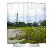 Cape May Lighthouse - New Jersey Shower Curtain