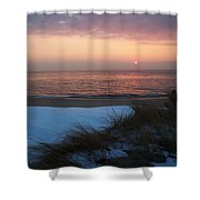 Cape May Twilight In February Shower Curtain