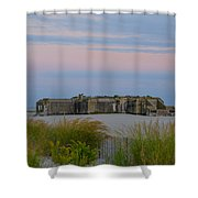 Cape May Wold War Two Concrete Bunker Shower Curtain