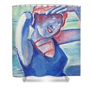 Cape May1920s Bathing Beauty Shower Curtain