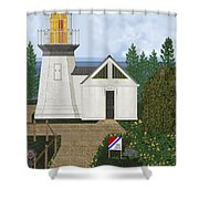 Cape Meares Lighthouse April 2013 Shower Curtain by Anne Norskog