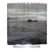 Cape Mears Storms Shower Curtain