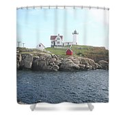 Cape Neddick Light On A Misty Morning Shower Curtain