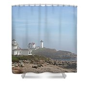 Cape Neddick Lighthouse IIi Shower Curtain
