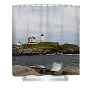 Cape Neddick - Nubble Lighthouse Shower Curtain