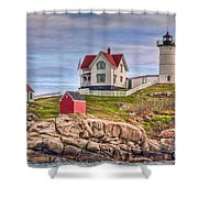 Cape Neddick Nubble Lighthouse II Shower Curtain