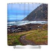 Cape Perpetua Path Shower Curtain