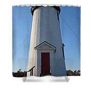 Cape Poge Lighthouse Shower Curtain