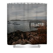 Cape Porpoise Fog Rolls In Shower Curtain