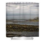 Cape Porpoise Maine - Fog On The Horizon Shower Curtain
