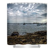 Cape Porpoise Maine - In The Evening Shower Curtain