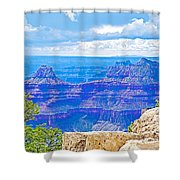 Cape Royal Blue On North Rim Of Grand Canyon-arizona Shower Curtain