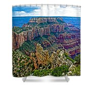 Cape Royal On North Rim Of Grand Canyon-arizona Shower Curtain