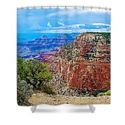 Cape Royal Three On North Rim Of Grand Canyon-arizona Shower Curtain