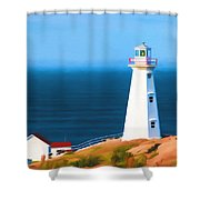 Cape Spear Lighthouse Shower Curtain