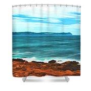 Cape Spear Shoreline Shower Curtain