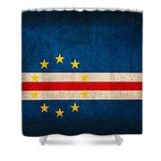 Cape Verde Flag Vintage Distressed Finish Shower Curtain