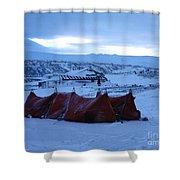 Capeevanshut-antarctica-g.punt-9 Shower Curtain