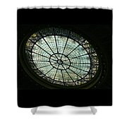 Capital Building Stained Glass  Shower Curtain