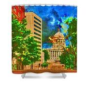 Capital - Jefferson City Missouri - Painting Shower Curtain