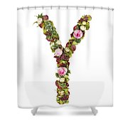 Capital Letter Y Shower Curtain