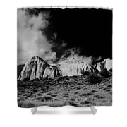 Capital Reef National Park In Black And White  Shower Curtain