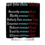 Capital Virtues Overcome Deadly Sins Shower Curtain