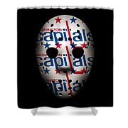 Capitals Goalie Mask Shower Curtain