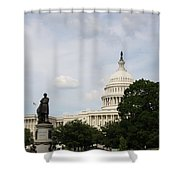 Capitol And Statue Washington Dc Shower Curtain
