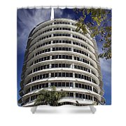 Capitol Records Building 2 Shower Curtain